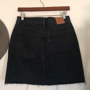 Levis Denim Black Skirt